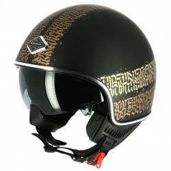 Casque Astone MINIJET 66 TATTOO Abstract Cali Noir Mat